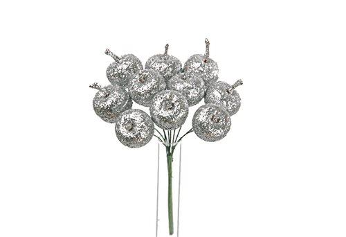 Mele glitter argento