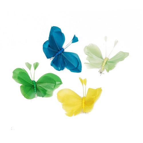 Set 12 farfalle con clip