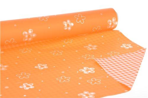 Rotolo vichy arancio