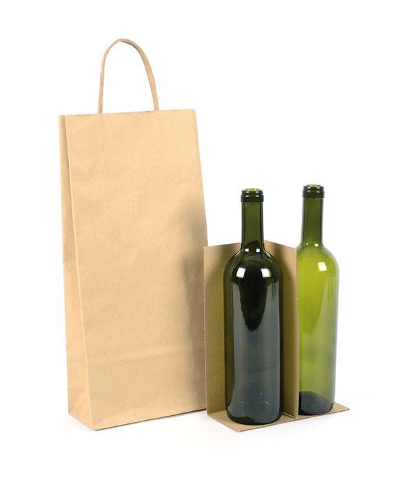 Shopper 2 bottiglie ecologica